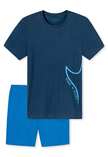 Schiesser Jungen Anzug Kurz Zweiteiliger Schlafanzug, Blau (dunkelblau 803), (Herstellergröße:164)