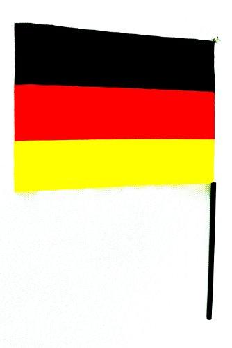 4 X Deutschland Fan Fahne Deko Flagge WM 45 X 30 cm / 60 cm STAB by schenkfix