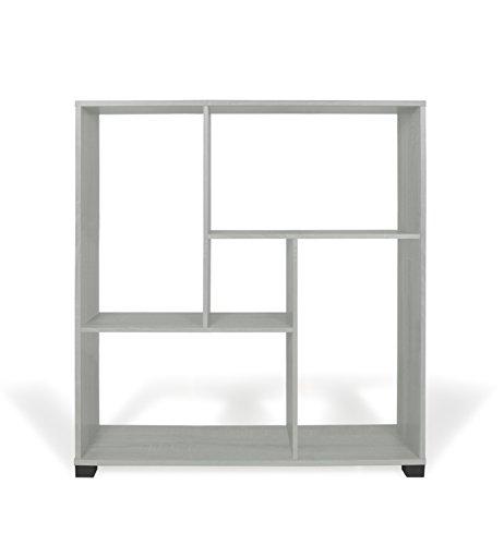 TrendyItalia 12968 Libreria Rovere Sbiancato, Legno, Bianco, 80 x 24 x 83.5 cm