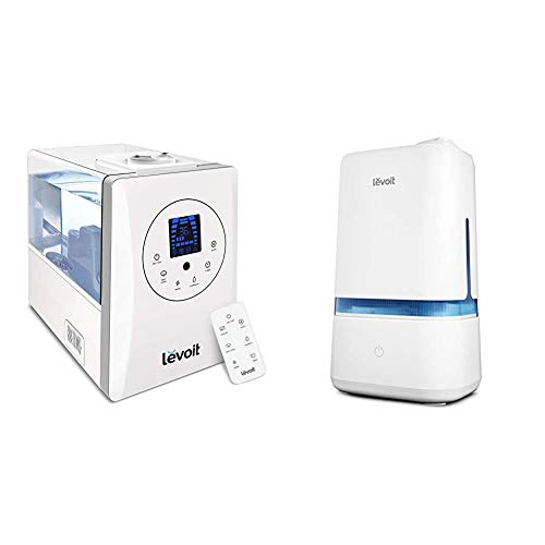 LEVOIT Humidifiers for Large Room Bedroom (6L), Warm and Cool Mist Ultrasonic Air Humidifier for Home & Humidifiers for Bedroom, 4L Ultrasonic Cool Mist Humidifier for Large Room