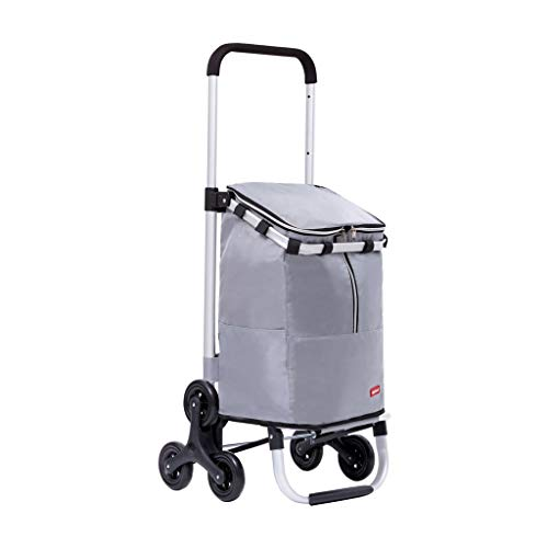 Why Should You Buy Big Stair Climber Utility Trolley Tote Bag, Folding Step Up Grocery Shopping Cart...