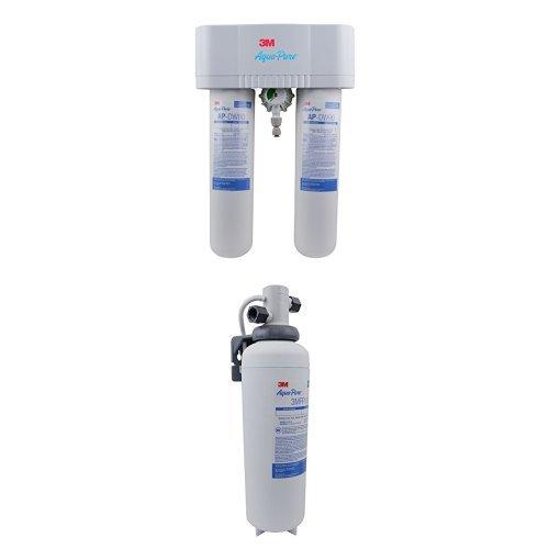 3M Aqua-Pure Under Sink Water Filtration System, Model AP-DWS1000LF, No Faucet & 3M Aqua-Pure Under Sink Water Filtration System, Model 3MFF100