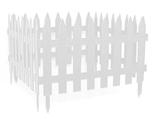 Clôture décorative de jardin Blanc Longueur : 3,20 m Hauteur : 27 cm