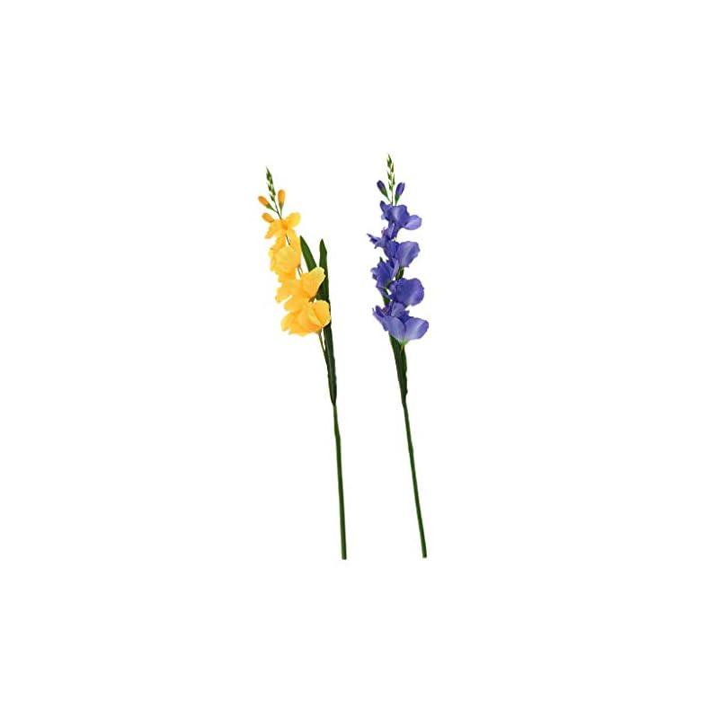 silk flower arrangements f fityle 2pcs artificial simulation gladiolus flower stem wedding home decor