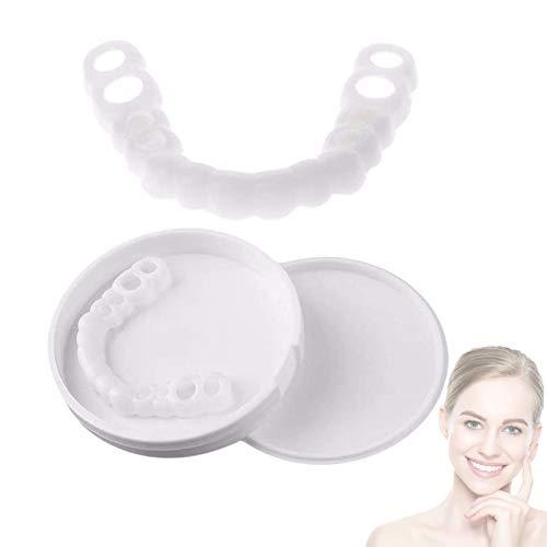 EFSDF Zahnersatz Provisorischer 2 Paare Temporäre Lächeln Comfort Fit Kosmetische Zähne, Flex Zähne Veneers Eine Grösse passt Allen für Männer und Frauen