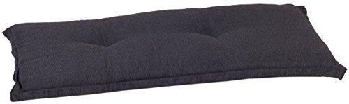 Beo Bankauflage 100 x 45 cm Waschbar Ascot | Premium-Qualität Made in EU | Atmungsaktive Gartenbank Auflage nach Öko-Tex Standard | UV-beständige Sitzauflage Bank | Auflage Bank in Anthrazit