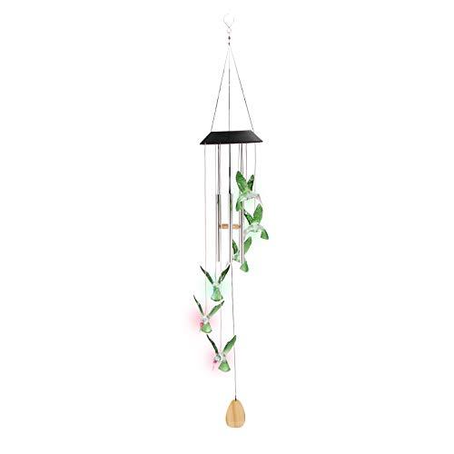 Hummingbird Wind-Chimes Solar Powered LED Lampe 7 Farben ändern für Yard Pathway Garten Patio