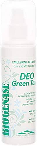 Biogenase Deo Green Talco Deodorante Senza Alluminio Anti Sudore Spray Lozione 125 ml - Deodorante Corpo per Pelli Sensibili - Deodorante Ecologico Senza Parabeni- Elimina Cattivi Odori