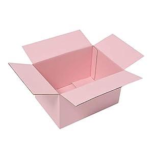 両面ピンクダンボール(色付き段ボール) 60サイズ 小物、ギフト配送、収納用 みかん箱タイプ タチバナ産業 20枚セット ピンク