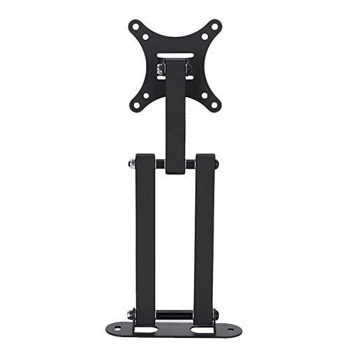 ASHATA YC-TV140 10–32 inch verstelbare rotatie flexibele TV-staander wandhouder voor werkkamer/slaapkamer zwart