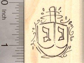 Hanukkah Dreidel Rubber Stamp, Chanukah Festival of Lights