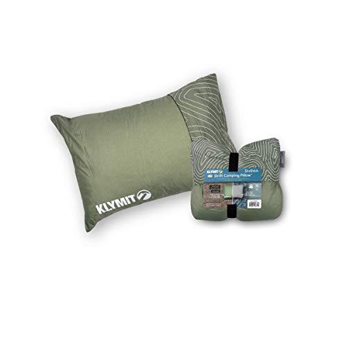 Klymit Unisex\'s Drift Camping Pillow, Green, Regular