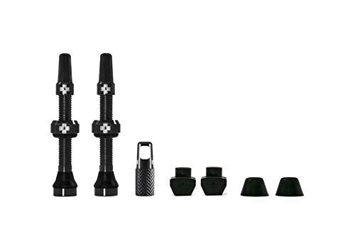 Muc-Off - Válvulas Presta sin cámara, 44 mm, sin Fugas, con Herramienta de extracción de núcleo de válvula integrada