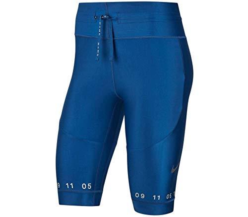 NIKE W Nk City Rdy Short Tght Pantalón Corto, Mujer, Coastal Blue/Reflect Black, M