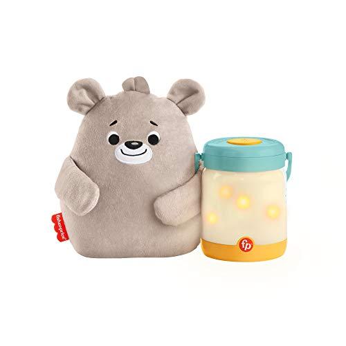 Fisher-Price GRR00 - Bärchenbaby mit Glühwürmchen-Spieluhr, Klangerzeuger für das Kinderzimmer, für Babys und Kleinkinder