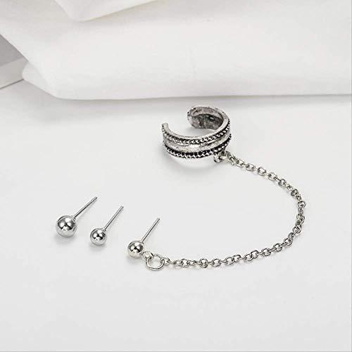 Geschenken oorbellen punk meisje blad ketting lange kwast oor manchet Vintage Clip oorbellen voor vrouwen sieraden
