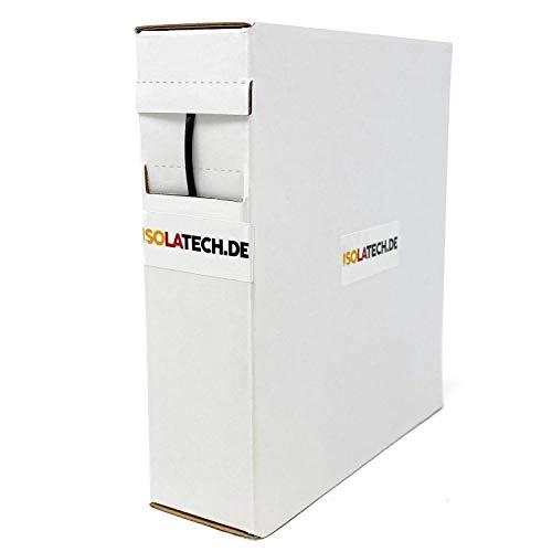 Mini Box 3:1 Schwarz 3mm 10m Schrumpfschlauch Rolle in praktischer Spenderbox von ISOLATECH