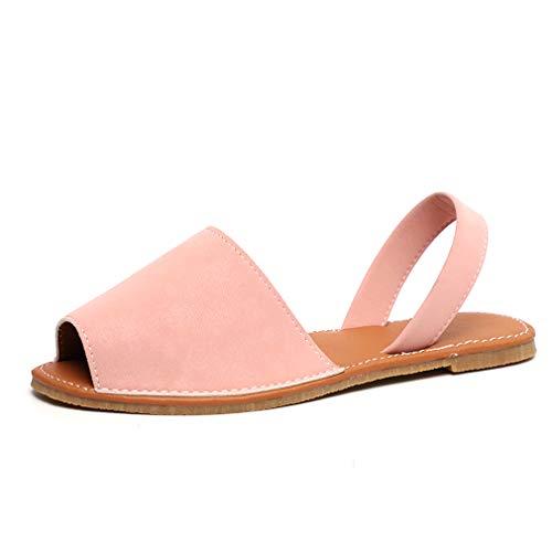 Sandalias Mujeres Verano Planas Zapatos Plataforma Bohemias Playa Mares Romanas Zapatillas Casual Elegante Alpargatas Negro Blanco Rosado 34-44