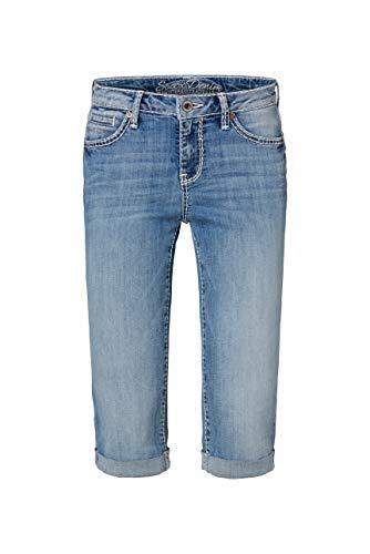 SOCCX Damen Bermuda Jeans RO:My mit Vintage Look