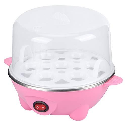 Elektrischer Eierkocher, Eierdampfer Tragbarer elektrischer Eierkocher, Mini-Multifunktion für das Restaurant Frühstück Hausküche DIY Kochen(Single layer pink)
