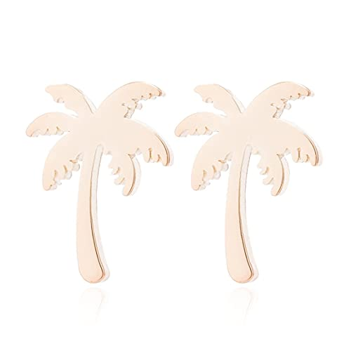 Persdico Pendientes de árbol de Coco para Mujer, Pendientes hipoalergénicos Hechos a Mano, joyería, Regalos, Colgantes de Oreja para Mujer
