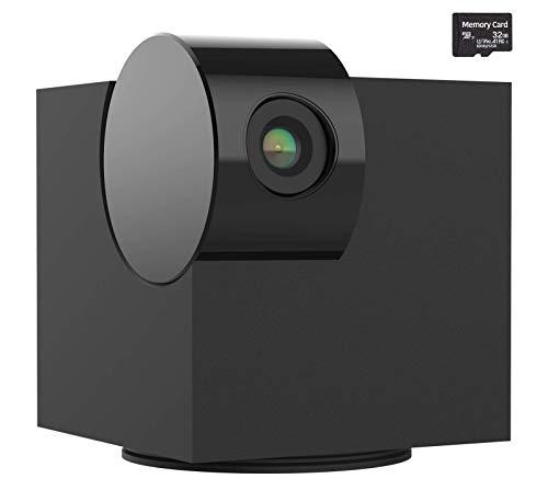 Cámara doméstica Laxihub P1 con audio y vídeo bidireccional, visión nocturna, 1080p HD, tarjeta SD de 32 G, compatible con Alexa