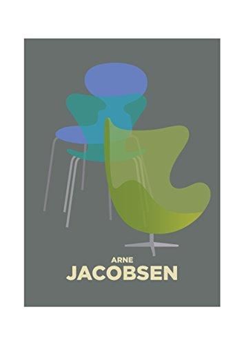 VisualPhilosophy Arne Jacobsen Egg Chairs Print - Interior Designer...