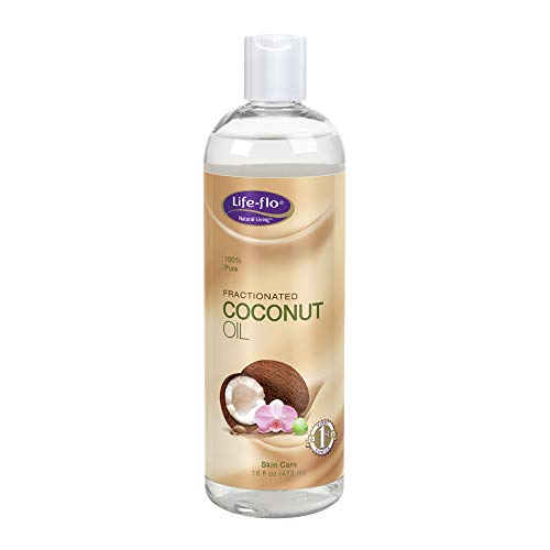 Life-Flo Coconut Oil, Fractionated | Light, Non-Greasy, Fast-Absorbing Face & Body Oil | For Dry Skin & Hair | No Parabens | 16 Fl Oz