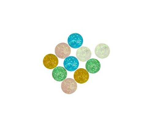 ARSUK 10pcs Large Handmade Flowerish Style Glow in The Dark Punktierte Glasmurmeln, Schutz vor Beschädigungen, Sportspielzeug & Outdoor (10 Stück im Dunkeln leuchtende Murmeln)