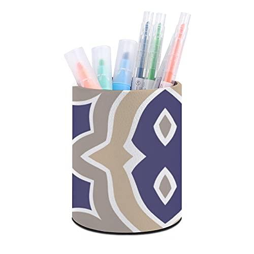 Soporte para lápices, organizador de escritorio, organizador de escritorio para oficina, aula, hogar, azul marino y gris pardo marroquí