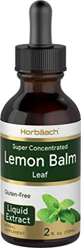 Lemon Balm Leaf Liquid Extract | 2 fl oz Tincture | Melissa Officinalis | Vegetarian, Non-GMO, Gluten Free | by Horbaach