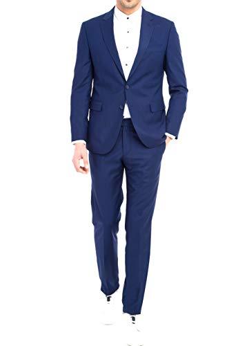 keskin collection Herren Anzug Blau Slim Fit Modern Fit Red Label (52, EdelBlau)