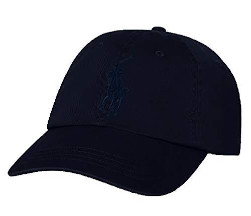 Ralph Lauren Polo Men Big Pony Logo Hat (Aviator Navy/Navy Pony)