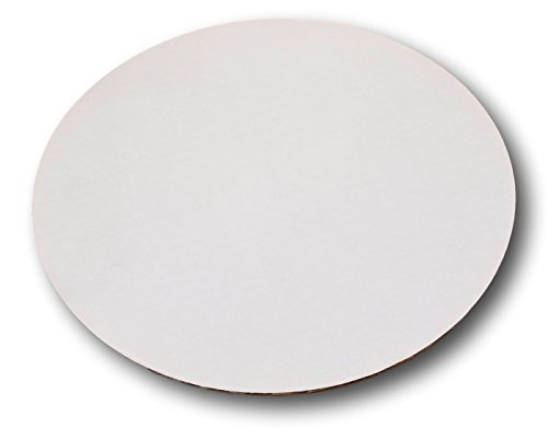 Corrugated Sturdy White Cake/Pizza Circle by MT Products (15 Pieces) (6 Inch)