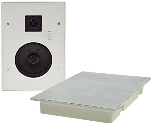 Einbaulautsprecher für Wand und Decke CTE-W 287x197x34mm 120 Watt 2-Wege Metallschutzgitter Halteklammern 8 Ohm Weiß
