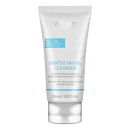 Vitabay Gentle Facial Cleanser (150ml) • Sulfatfreies & Mildes Reinigungsgel mit Zink PCA • Perfekt Geeignet für eine Saubere Gesichtsreinigung