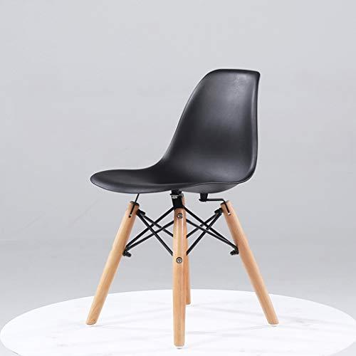 YLCCC Kruk Voor Kind Houten Kinderstoel veelkleurige look zacht en ademend Faux Lederen Chrome Frame voor Kinderen en Peuters Zwart