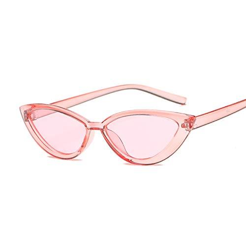Hanpiyignstyj Gafas De Sol, Gafas de Sol Ojo de Gato Espejo de Mujeres Triángulo Negro Gafas de Sol Mujeres Lentes Chroma Señoras Gafas (Lenses Color : Pink)