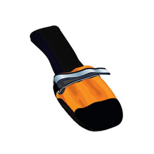 "Muttluks Fleece Lined Dog Boots Set of 4 - Orange, Large 3.75"" to 4.25"" (Paw Wear)"
