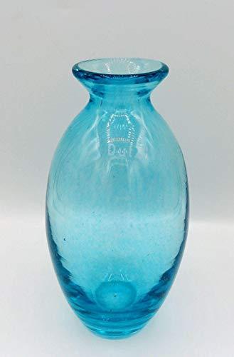 Dutz Collection | NADIEL Glas Vase Blau H 18,5 cm A4 Zartblau Blumenvase Dekovase | Mundgeblasen | Tischdeko Frühling Sommer