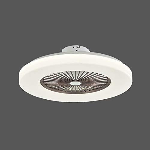 Lámpara de techo ultrafina con ventilador eléctrico, se puede apagar regularmente, lámpara de ventilador de techo de tres colores ajustable de tres velocidades