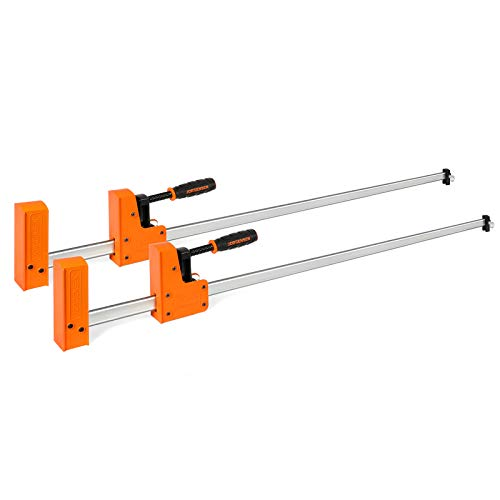 JORGENSEN 48-inch Bar Clamps, 90°Cabinet Master Parallel Jaw Bar Clamp Set, 2-pack