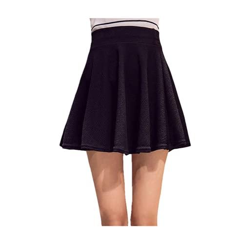 N\P Faldas para mujer, talla grande, tutú, falda corta, pantalones adecuados para, Negro Sin Pantalón, 52
