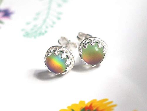 Small Crown Mood Earrings in Sterling Silver
