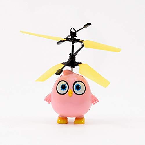 Daxoon Mini-Drohne für Kinder,LED Drohne mit Kleiner Vogel-Modellierung,Handgesteuerte Quadcopter Infrarot-Induktions-Flying Spielzeug Hubschrauber für Mädchen Jungen und Anfänger