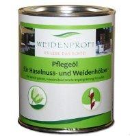 Weidenprofi Pflegeöl, Holzöl für Weidenzäune, Weidenöl Gebinde mit 750 ml Inhalt