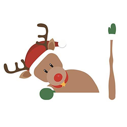 Zelfklevende Leuke Cartoon Auto Achterruit Ruitenwisser Sticker Sticker voor Kerst Xmas Voertuig Auto Decoraties Stijl C