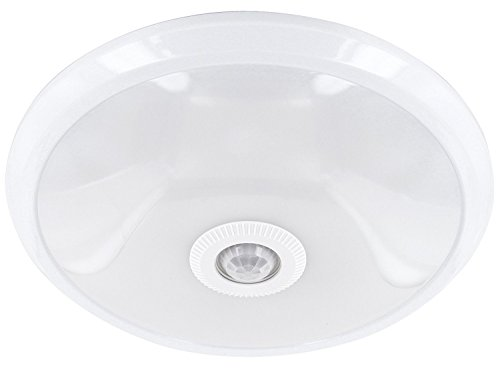 LED Slim sensorlamp 12W - plafondlamp met PIR-bewegingsmelder 360 ° - 800lm - 290x60mm - warm wit (3000 K)