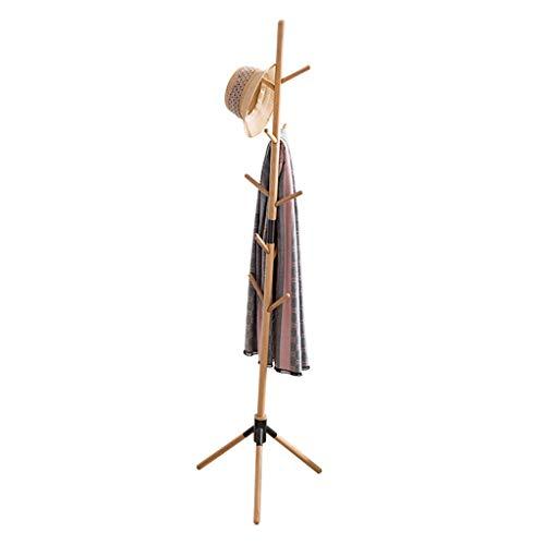 NIUZIMU kapstok kledingrek met haken, gratis staande effen jas en hoedenrek voor het ophangen van jassen, petten, handtassen in kantoor thuis jasrekken