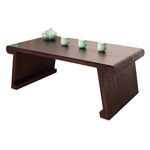 Tables De Piano De Fenêtre De Style Japonais Rétro en Bois Massif Salon Basse Lit Petite Bureau Basse Basses (Color : Brown, Size : 70 * 45 * 35cm)